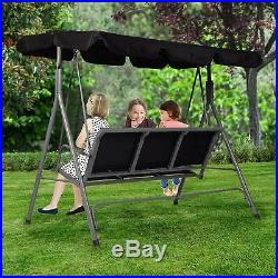 Canopy Swing Chair Patio Backyard Awning Yard Porch Park Bench 3 Person Outdoor
