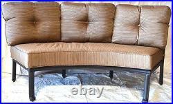 Cast Aluminum Curved Outdoor Sofa Elisabeth 2 Piece Patio set Desert bronze