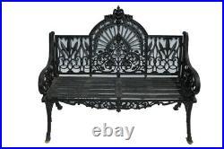 Cast Iron Garden Bench, Gothic Styling, Sturdy