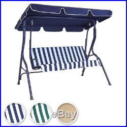 Charles Bentley 2-3 Seater Garden Swing Seat Hammock Chair Stripe / Plain Design