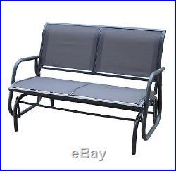 Charles Bentley 2 Seater Glider Rocking Bench With Mesh Seat Grey