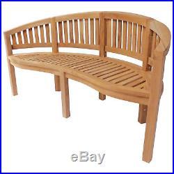 Charles Bentley Solid Wooden Teak Garden Outdoor San Diego Bench 5.2Ft 3 Seater