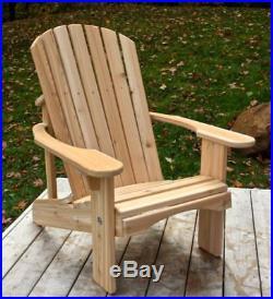 Classic Cedar Adirondack Chair Handmade by Ozark Mountain Furniture