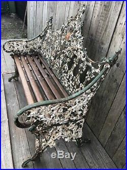 Coalbrookdale Original Cast Iron Bench Gothic design circa 1860