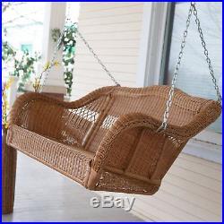 Coral Coast Casco Bay Resin Wicker Porch Swing