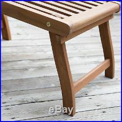 Coral Coast Dorado Acacia Steamer Deck Lounge Chair