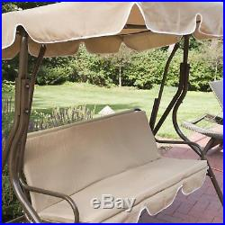 Coral Coast Ginger Cove 2 Person Adjustable Tilt Metal Canopy Porch Swing- Light