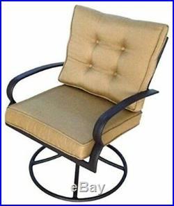 Courtyard Classic Bellevue Cushion Swivel Rocker, Pack of 2