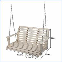 Cypress Wood Wooden Porch Bench Swing WITH HANGING HARDWARE USA Stock BE