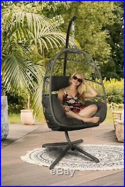 Egg Chair and Stand combo Hanging Wicker Chair stand included
