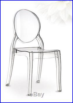 Elizabeth Ghost Acrylic chair in glass clear, amber or pink available. Quality