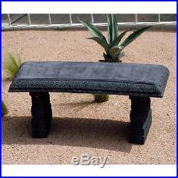 Exaco Endura Clay Garden Curved Backless Bench, Concrete