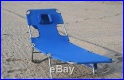 Folding Chaise Lounge Beach Reading Chair Sunbathe Deck Pool Garden Lawn Patio