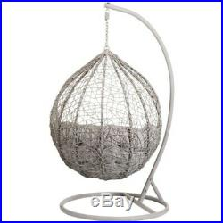 G19 Comfortable Stylish Siena Hanging Egg Chair Smooth Rocking Action Garden Use
