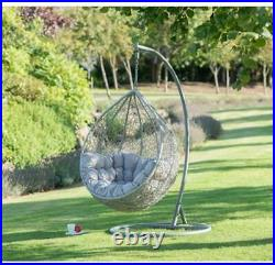 G20 Comfortable Stylish Siena Hanging Egg Chair Smooth Rocking Action Garden Use
