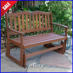 GLIDER BENCH Wooden Porch Seat Outdoor Loveseat Patio Garden Furniture Rocking