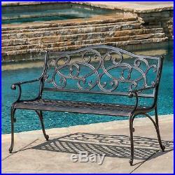Gael Cast Aluminum Garden Bench