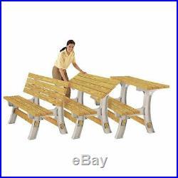 Garden Bench Custom Flip Top Bench To Table Sand Outdoor Convertible Furniture