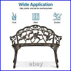 Garden Bench Patio Park Bench 2 Persons Outdoor Furniture Porch Deck Backyard