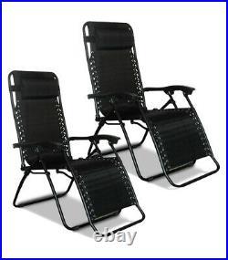 Garden Patio Outdoor Folding Textoline Sun Lounger Recliner Beach Chair Bed