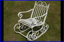 Garden Rocking Chair Cream Shabby Chic Vintage Style aged Seat