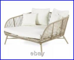 Gardenline Rope Effect Snug Seat Garden Snug Cuddle Chair Seat Aldi