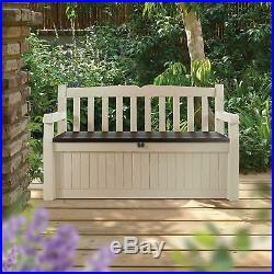 Gartenbank Holz Mit Stauraum Kissenbox Garten Wasserdicht Holz 265 L/Truhenbank