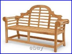 Gartenbank Sitzbank Gartenmöbel 3-Sitzer aus massiven Teak Holz 165 cm (2677)