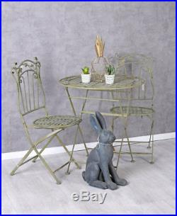 Gartengarnitur Gartenmöbel Eisen Sitzgruppe Balkonmöbel Tisch Stühle Tischset