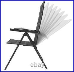 Gartenstuhl Aluminium Hochlehner Alu klappbar verstellbar Polsterung + Holz