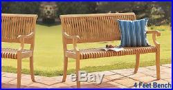 Giva A-Grade Teak 4 Feet Outdoor Garden Patio Luxurious Bench Furniture New