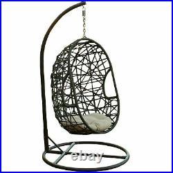 Guerneville Outdoor Brown Wicker Hanging Teardrop / Egg Chair