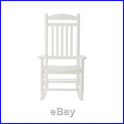 Hampton Bay Outdoor Rocking Chair Contoured Seat Polyurethane Finish Wood White