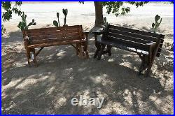 Handmade Convertible Wood/Wooden Bench to Picnic Table