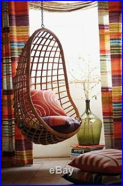 Hanging Cane Wicker Swing Egg Chair