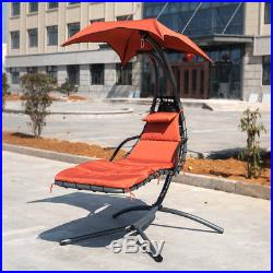 Hanging Chaise Lounger Chair Swing Hammock Stand Air Porch Chai for Yard Garden