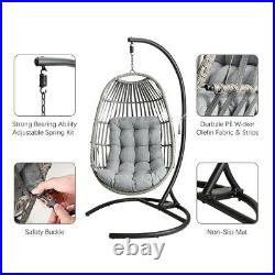 Hanging Egg Chair Swing Outdoor Wicker Hammock with Padded Cushion Large Size