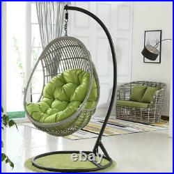 Hanging Garden Chair Weave Egg with Cushion In Outdoor Rattan Swing Patio