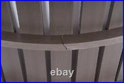 Highwood Adirondack Stuhl Gartenstuhl Sessel Deckchair Holz-Optik Braun