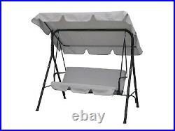 Hortus Garden Metal Swing Chair 3 Seater Hammock Patio Canopy Bench Lounger