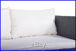 IDS Home Patio Rattan Wicker Sofa Set Cushined Couch Furniture Outdoor Garden