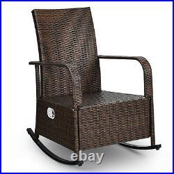 Indoor& Outdoor Reclining Chair Patio Porch Garden Lawn Wicker Chair Rattan Sofa