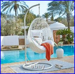KIDEO Komplettset Hängesessel Swing Chair CAPDEPERA Polyrattan komplett weiß