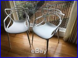Kartel Masters Stacking Patio/Dining Armchairs White Washable Resin/Plastic 2