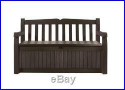 Keter Eden 70 Gallon All Weather Outdoor Patio Storage Garden Bench Deck