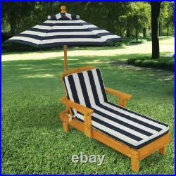Kidkraft Outdoor Chaise with Umbrella Kids Outdoor Sun Chair Sun Lounger