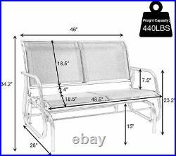 Koreyosh 2 Person Chair Outdoor Patio Swing Glider Bench-Loveseat Mesh Seating