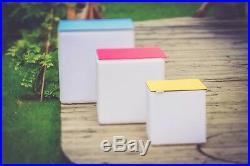 LED-Design-Cube 40cm Leuchtwürfel mit Akku, Fernbedienung, Farbwechsel LED-Cube