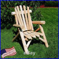 Lakeland Mills Classic Cedar Log Adirondack Chair, Natural