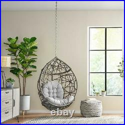 Layden Outdoor and Indoor Wicker Hanging Chair with 8 Foot Chain (NO STAND)
